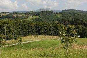 Vistas de Peñas de Aia y valle al fondo